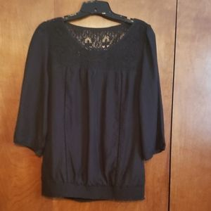 Express black lace blouse